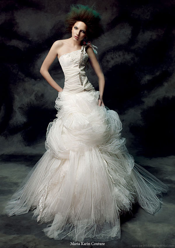 Maria Karin Couture 2011 bridal gown collection - strapless wedding dress with dramatic poufy skirt