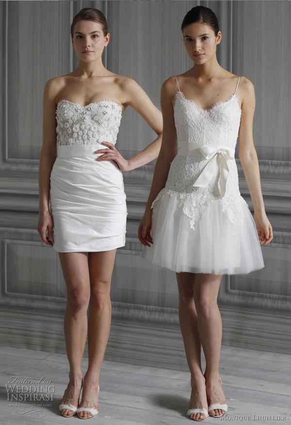 Monique Lhuillier Wedding Dresses Spring 2012 Bridal Collection  Wedding Inspirasi