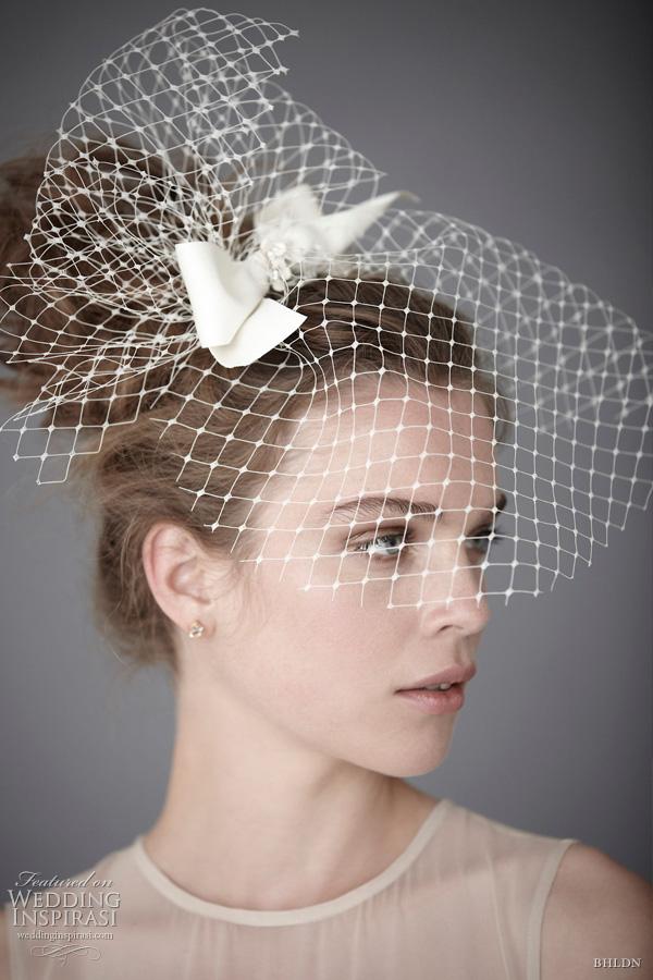 BHLDN Bridal Hair Accessories Birdcage Blusher Veils