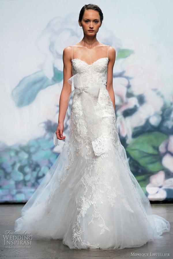 Fall 2016 Monique Lhuillier Bellflower Wedding Dress Ivory Fl Textured