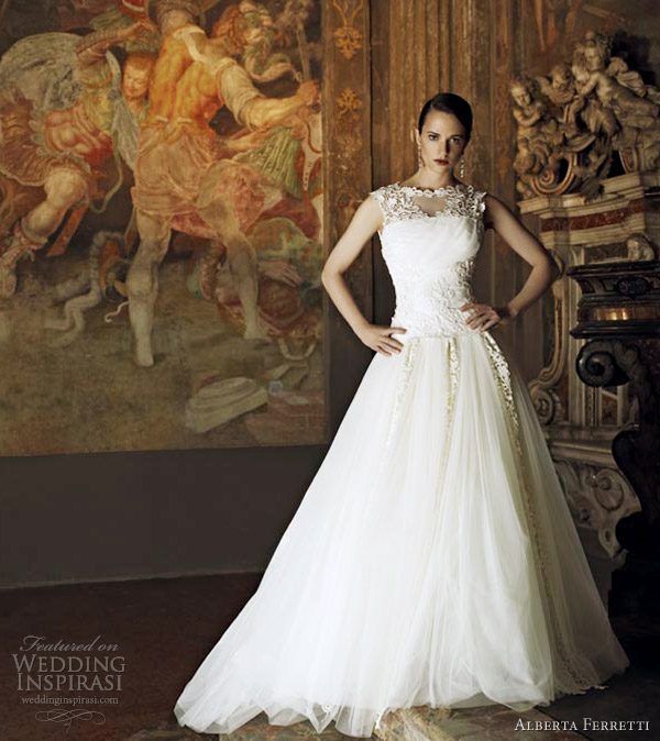 alberta ferretti 2013 wedding dress perla sleeveless ball gown
