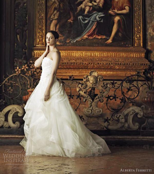 alberta ferretti wedding dresses 2013 vaniglia strapless ball gown