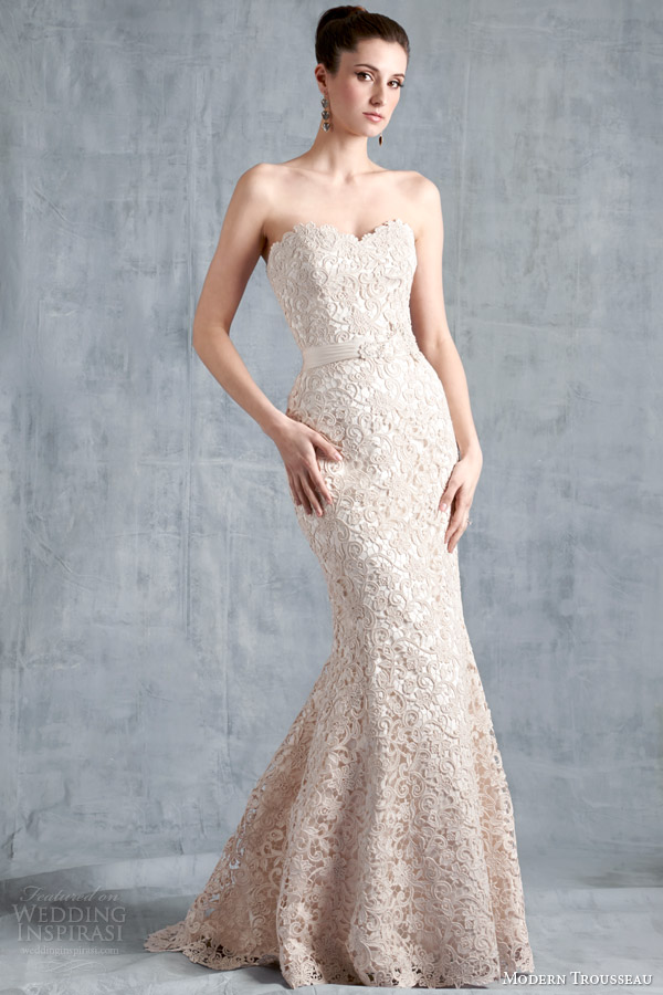 Modern Trousseau Spring 2015 Wedding Dresses  Wedding Inspirasi
