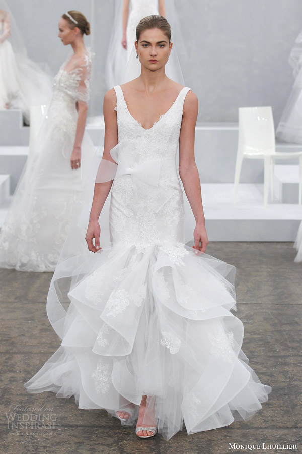 Monique Lhuillier Spring 2015 Wedding Dresses  Wedding