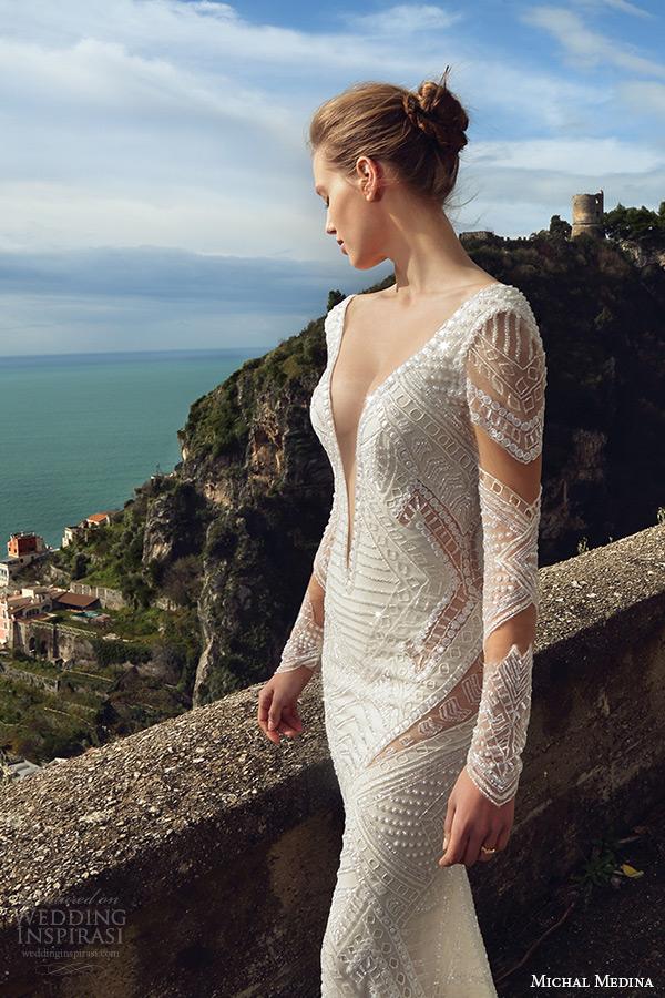 Plunging Back Wedding Dress