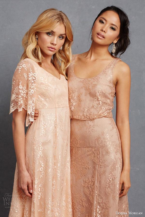 0e7634ca66e donna morgan lace bridesmaids dresses madeline apricot flutter sleev gown  natalya sleeveless blouson dress