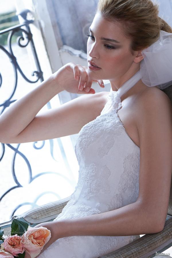 jillian 2016 wedding dresses halter neck embroidered bodice elegant fit to flare wedding dress cristina closeup