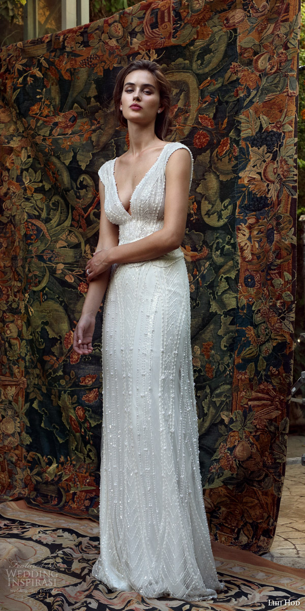 lihi hod bridal 2016 mia cap sleeve beaded v neck wedding dress