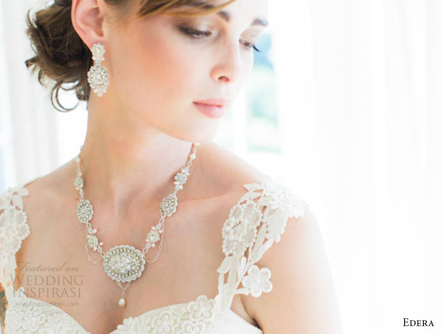 edera jewelry 2016 bridal accessories collection (amandine) necklace earrings