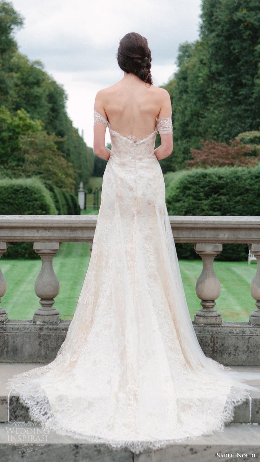 sareh nouri bridal fall 2016 off shoulder sweetheart trumpet lace wedding dress (tala) bv  train romantic elegant