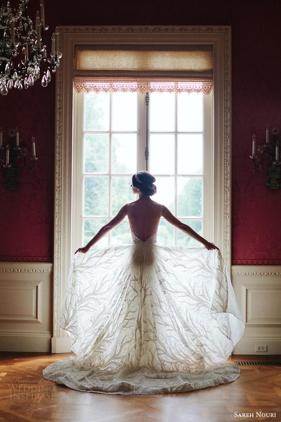 sareh nouri bridal fall 2016 sleeveless sweetheart illusion scoop neck lace wedding dress (shiraz) bv  train elegant