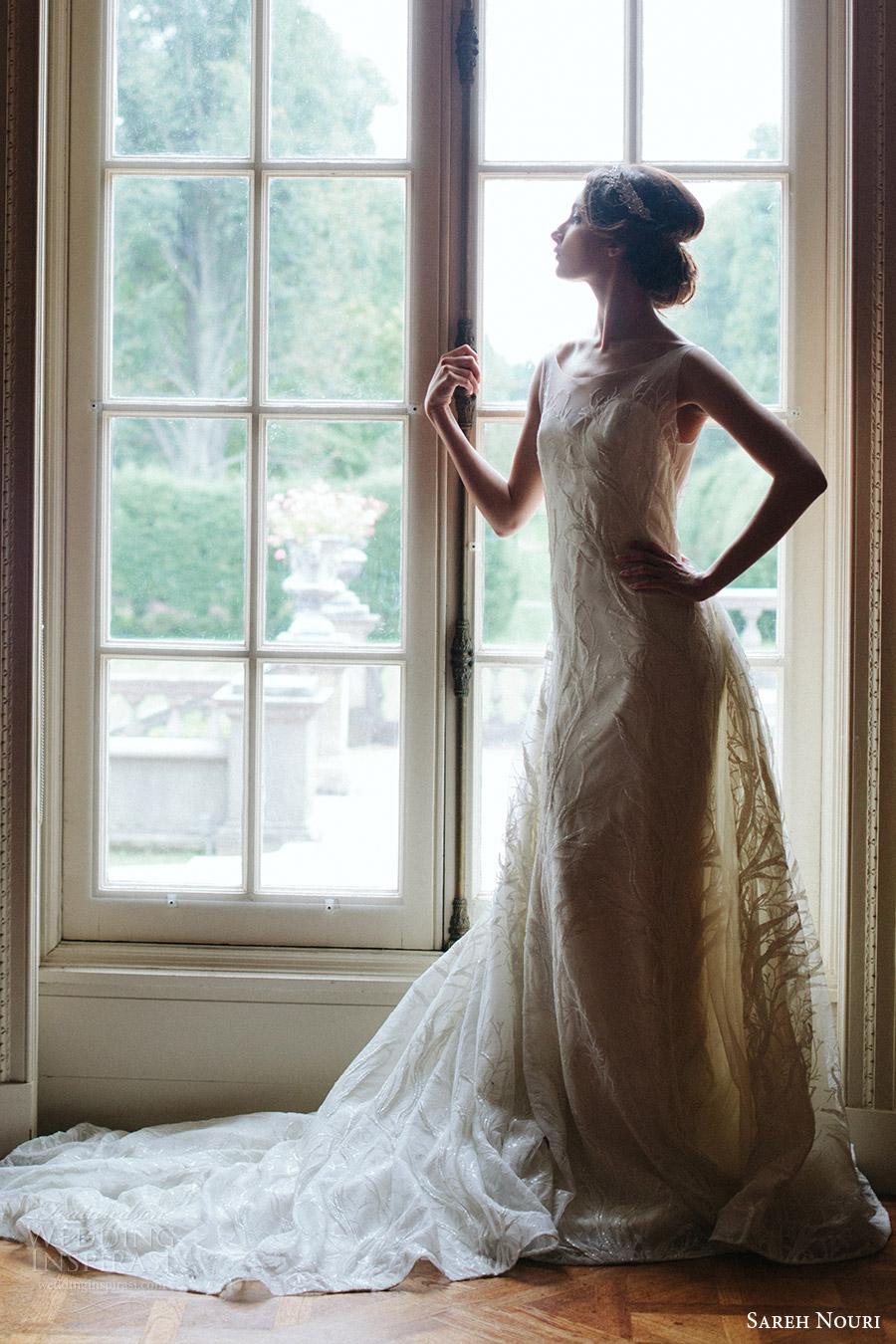 sareh nouri bridal fall 2016 sleeveless sweetheart illusion scoop neck lace wedding dress (shiraz) sv elegant