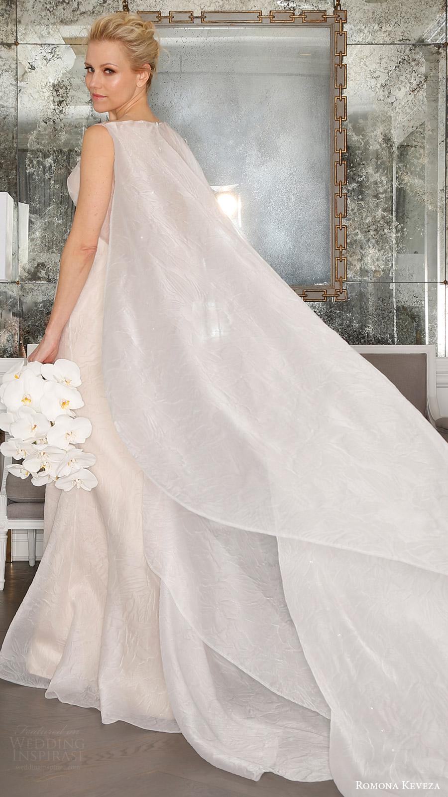romona keveza bridal spring 2017 sleeveless sweetheart illusion bateau neck (rk7400) bv detachable watteau train
