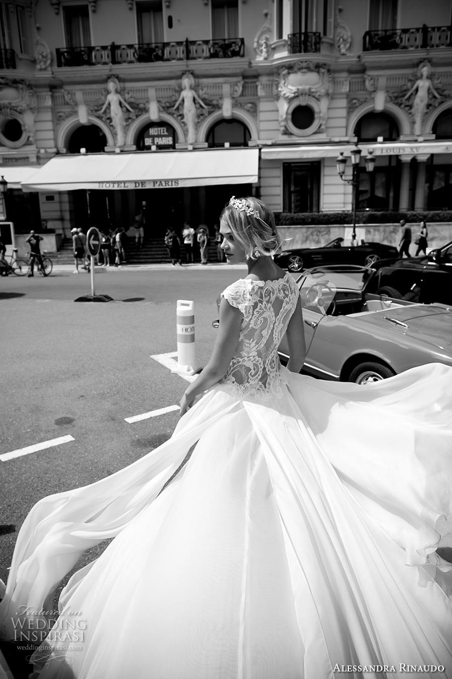 alessandra rinaudo 2017 bridal cap sleeves bateau neckline heavily embellished bodice sexy slit a  line wedding dress lace back chapel train (6) zbv