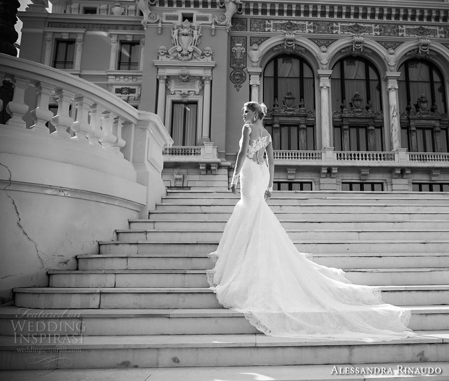 alessandra rinaudo 2017 bridal cap sleeves sweetheart neckline full embellishment elegant mermaid wedding dress illusion low back long train (9) bv