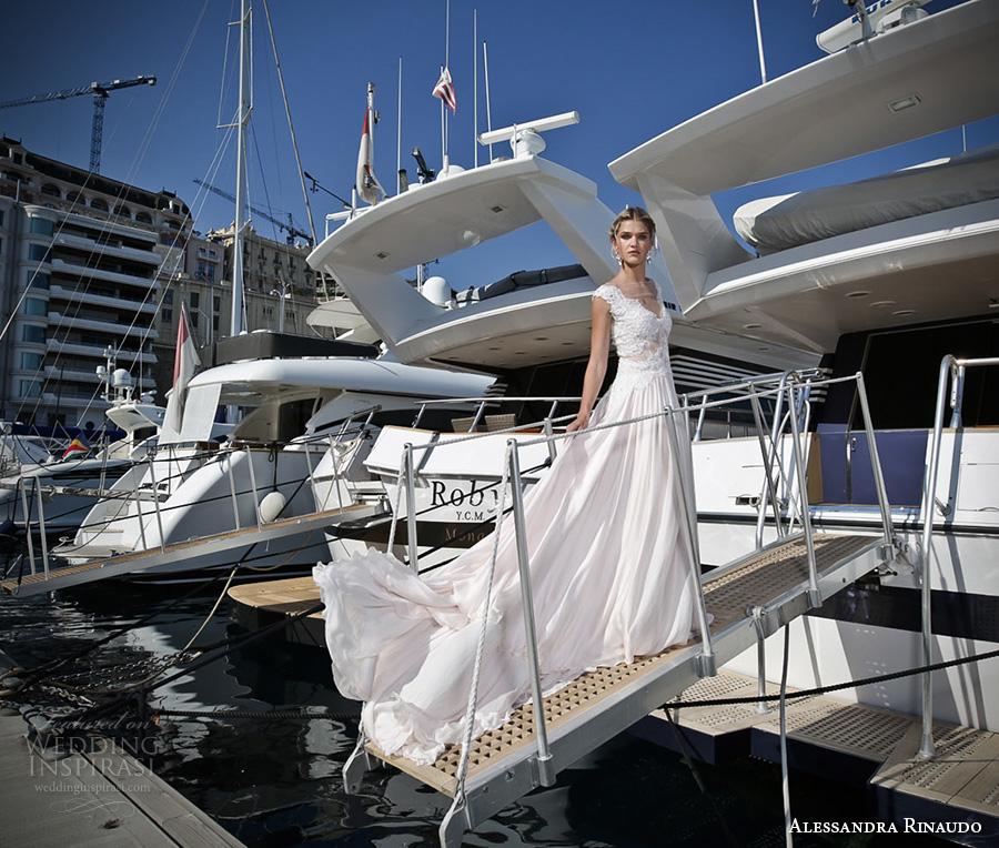 alessandra rinaudo 2017 bridal cap sleeves thick strap v neck heavily embellished bodice romantic a  line wedding dress illusion back chapel train (20) mv