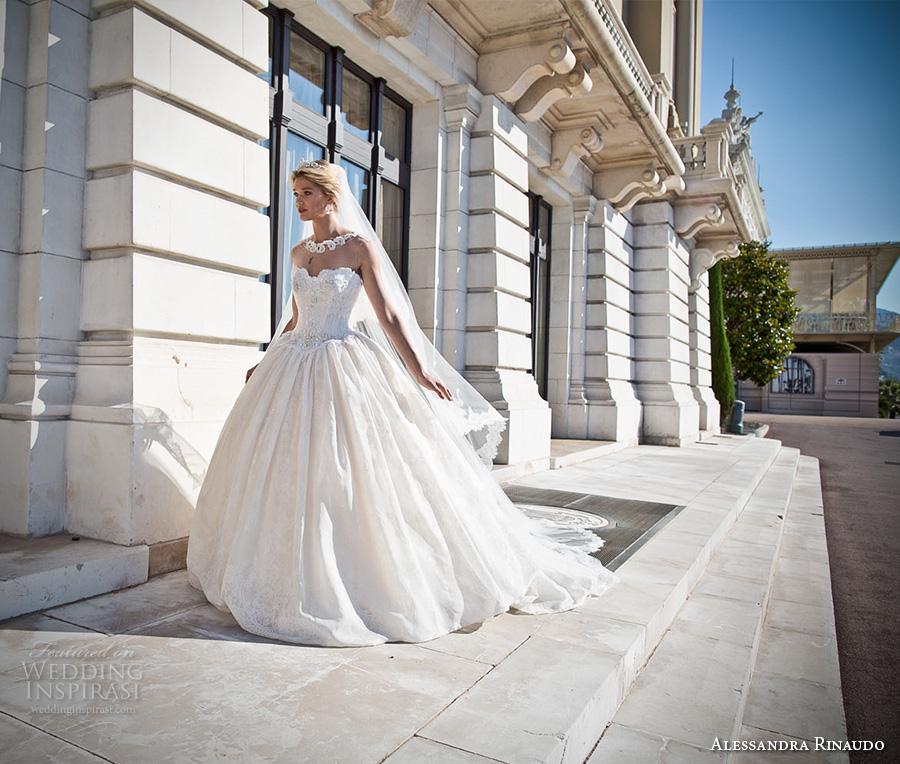 alessandra rinaudo 2017 bridal strapless sweetheart neckline bustier heavily embellished bodice princess ball gown wedding dress racer back royal long train (14) mv
