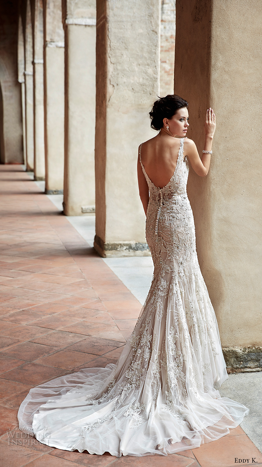 Low Back Wedding Dress Fit And Flare : Wedding eddy k couture dresses rumor bus