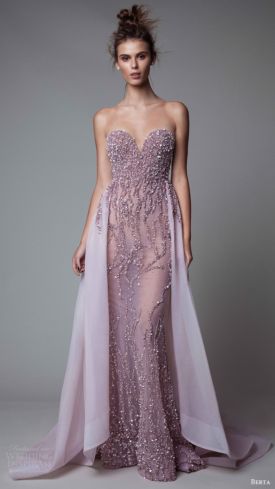 berta rtw fall 2017 (17 12) illusion strapless sweetheart sheath beaded evening dress with overskirt mv