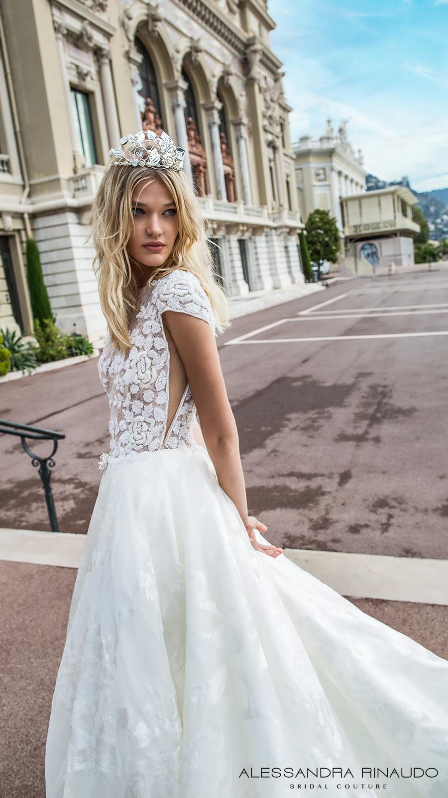 560c71bafe7 alessandra rinaudo 2017 bridal cap sleeves bateau neckline floral heavily  embellished bodice romantic princess a line