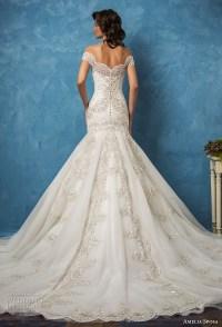 Amelia Sposa 2017 Wedding Dresses  Royal Blue Bridal ...
