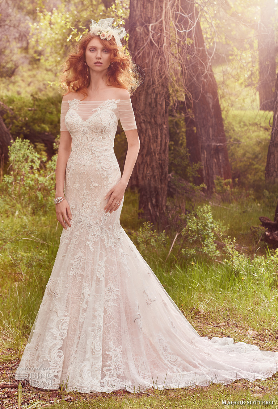2bbc85068f1 maggie sottero spring 2017 bridal strapless sweetheart neckline full  embellishment elegant fit flare mermaid wedding dress. ""