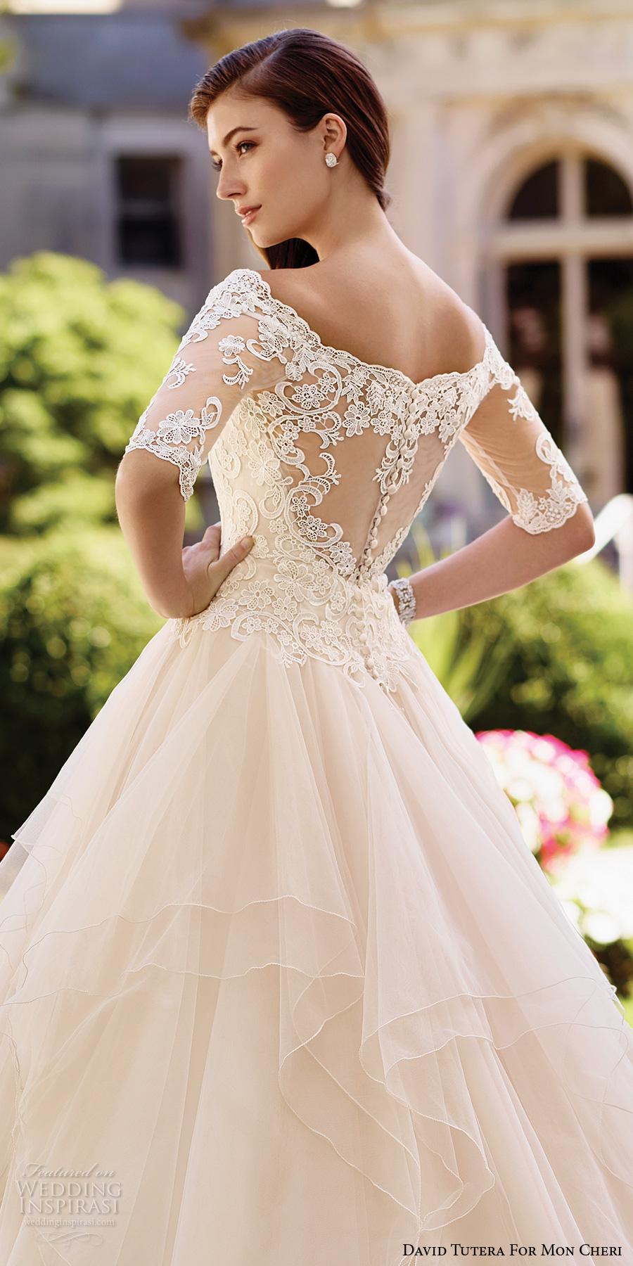 David Tutera for Mon Cheri Spring 2017 Wedding Dresses  Wedding Inspirasi