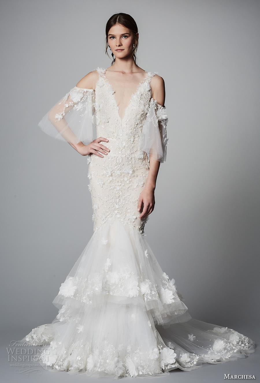 Marchesa Bridal Spring 2018 Wedding Dresses  New York Bridal Fashion Week Presentation