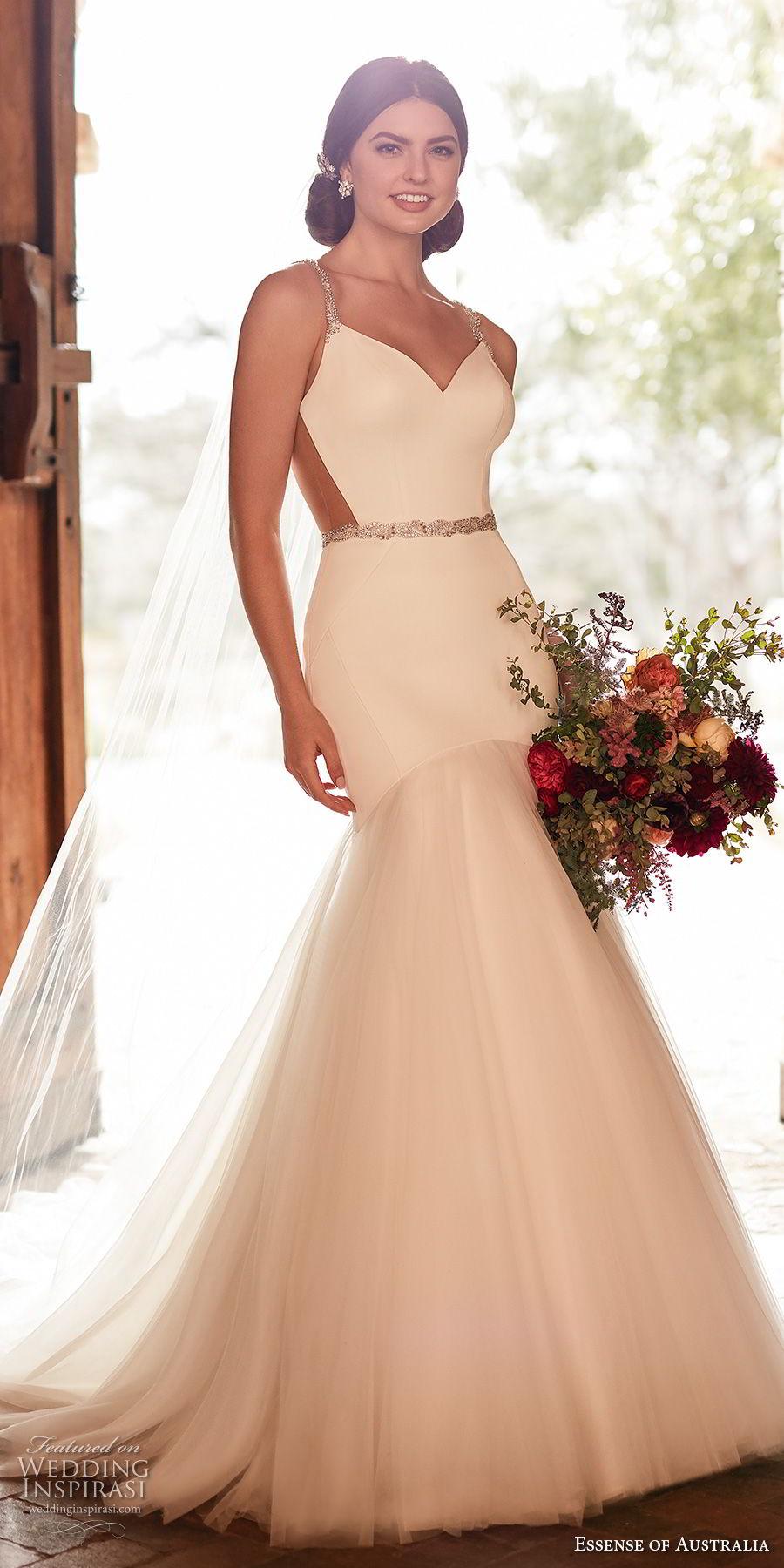 Thin Strap Wedding Dress