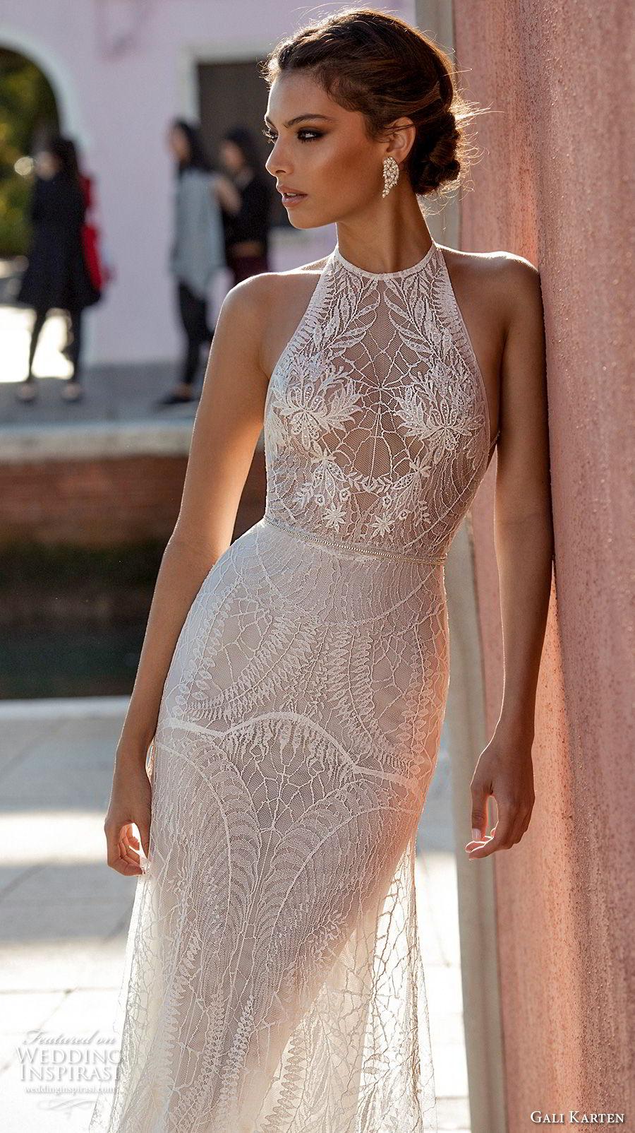 5ff820dff9b gali karten 2018 bridal sleeveless halter neck heavily embellished bodice  elegant romantic soft a line wedding