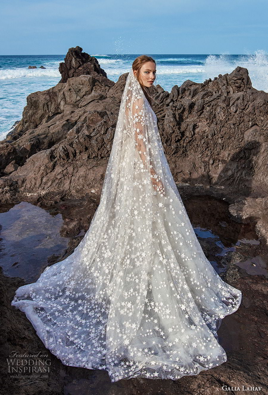 galia lahav gala 2018 bridal sleeveless deep v neck full embellishment romantic a line wedding dress open v back chapel train (4) sdv
