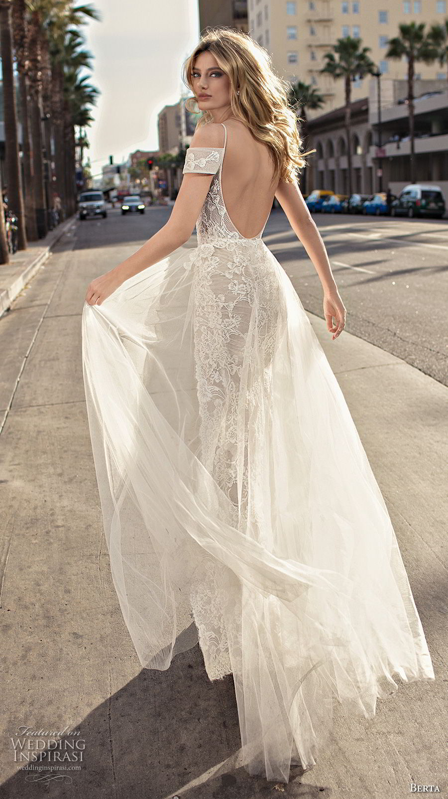 berta 2019 muse bridal spaghetti strap cold shoulder v neck full embellishment romantic soft a line wedding dress scoop back sweep train (1) bv
