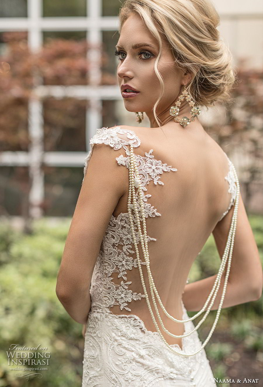 naama anat spring 2019 bridal sleeveless embellished strap sweetheart neckline full embellishment elegant fit and flare mermaid wedding dress open low back sweep train (2) zbv