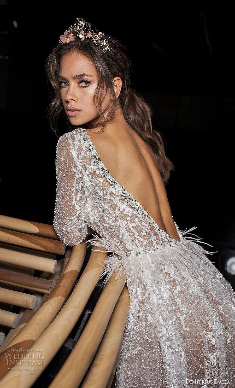 dimitrius dalia 2018 royal long sleeves deep v neck full embellishment sexy glamorous a line wedding dress low open back (2) zbv