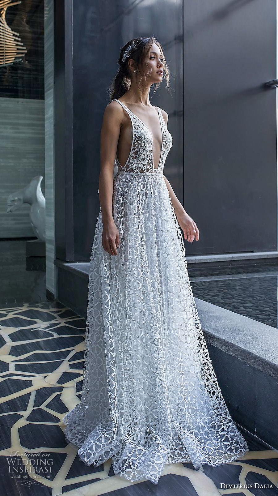 dimitrius dalia 2018 royal sleeveless with strap deep v neck full embellishment sexy romantic a line wedding dress v ribbon back sweep train (4) mv
