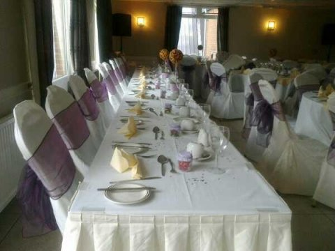 wedding chair cover hire bedford vintage dining table and chairs mowsbury golf complex reception venues in