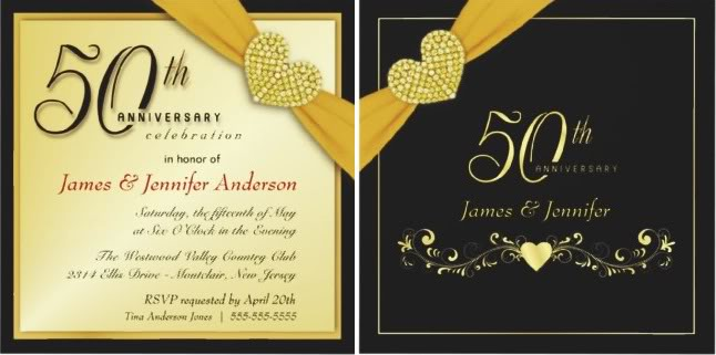 Wording For Invitations 50th Wedding Anniversary Invitation Cards Samples