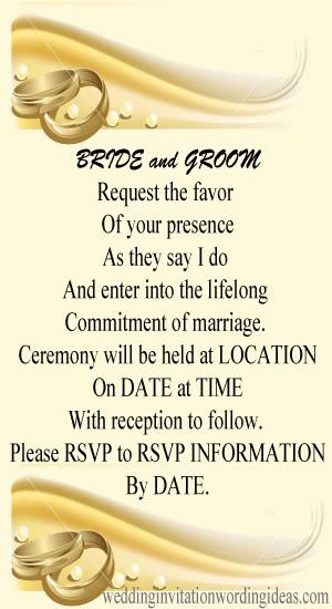 Formal Wedding Invitation Wordings