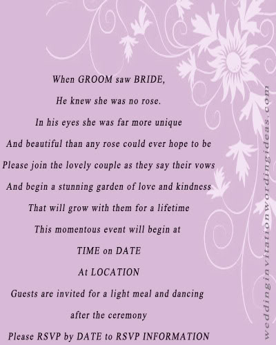 Marriage Invitation Card Wordings