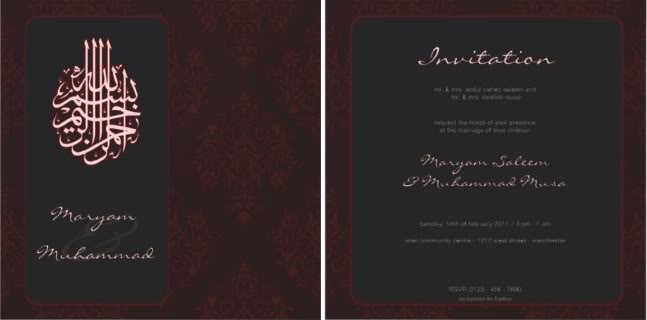 42 Back Redroyal Muslim Wedding Invite Elegantic Invitation Wording In English