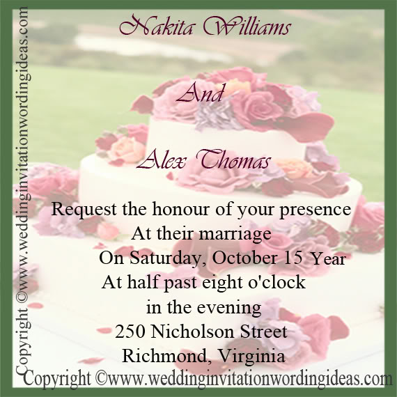 Bride And Groom Wedding Invitations Ins213