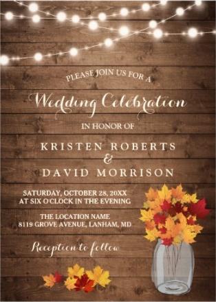 Fall Heart Leaves Background Wallpaper Beautiful Weddings Wedding Invitations
