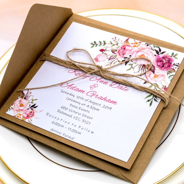Rustic Wedding Invitations With