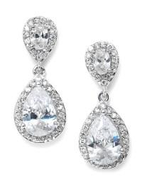 Best Selling CZ Bridal Teardrop Earring Jacqui