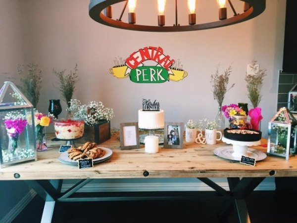 "friends kitchen ideas This ""Friends"" Themed Bridal Shower is inspirational 
