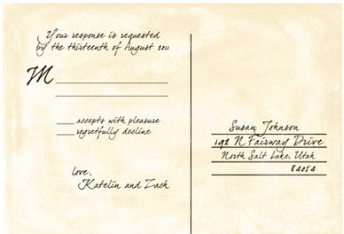 Reply Card Wording