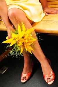 Yellow Seasonal Flowers for an LDS Wedding