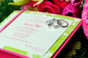 LDS Wedding Invitation, LDS Wedding Rings