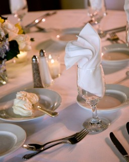 napkin folding ideas for LDS receptions