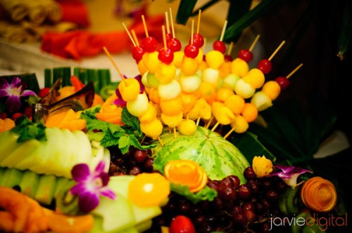 fruit display for wedding receptions